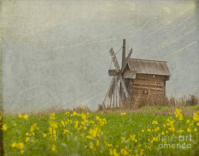 Old Mills Photograph - Old Wooden Windmill.  Kizhi Island.  Russia by Juli Scalzi
