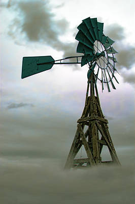 Wooden Windmill Art Print