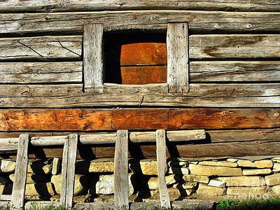 Photograph - Wooden Window by Daliana Pacuraru