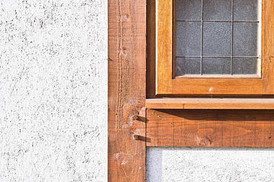 Frame House Photograph - Wooden Window Frame by Tom Gowanlock