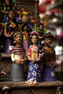 Art Print featuring the photograph Wooden Women Of South America by Dave Garner