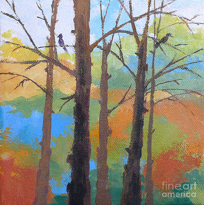Painting - Woodland #4 by Melody Cleary