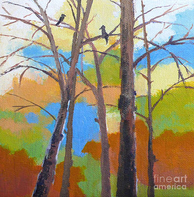 Painting - Woodland #5 by Melody Cleary