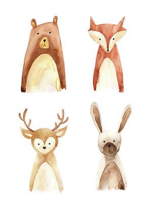 Digital Art - Woodland Animals by Jklr