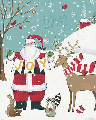Animal Christmas Painting - Woodland Christmas X by Anne Tavoletti