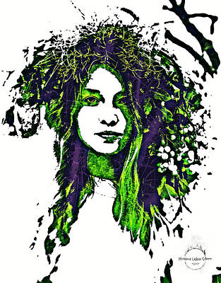 Digital Art - Woodland Faerie by Absinthe Art By Michelle LeAnn Scott