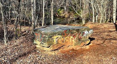 Rock Altar Photograph - Woodland Graffiti Altar by James Potts