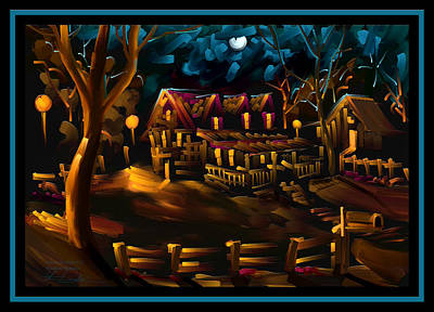 Tennessee Painting - Woodland Memories - Scratch Art Series - #33 by Steven Lebron Langston