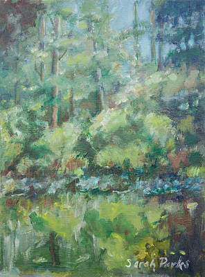 Woodland Pond Art Print by Sarah Parks