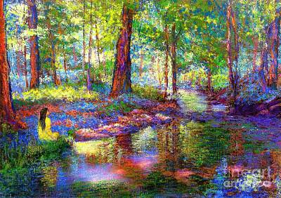 Colorful Painting - Woodland Rapture by Jane Small
