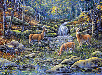 Painting - Woodland Sanctuary by Gail Butler