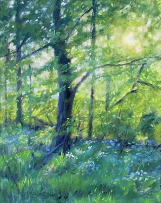 Woodland Sunset Art Print