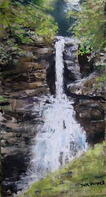 Woodland Waterfall Art Print