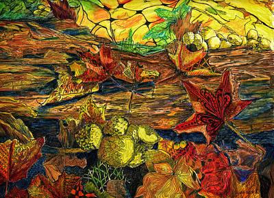 Woodland Weaving Art Print by Jo-Anne Gazo-McKim