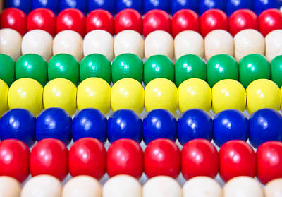 Colorful Beads Photograph - Wooden Balls by Tom Gowanlock