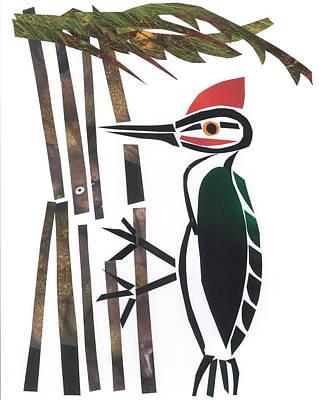 Woodpecker Mixed Media - Woodpecker by Earl ContehMorgan