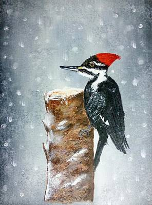 Painting - Woodpecker by Valorie Cross