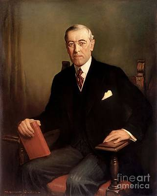 Woodrow Painting - Woodrow Wilson by Graham Cootes