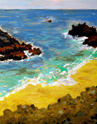 Painting - Woods Cove Seascape Laguna Beach California by David Olson