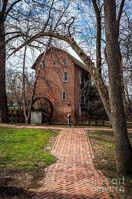 Brick Building Photograph - Wood's Grist Mill In Hobart Indiana by Paul Velgos