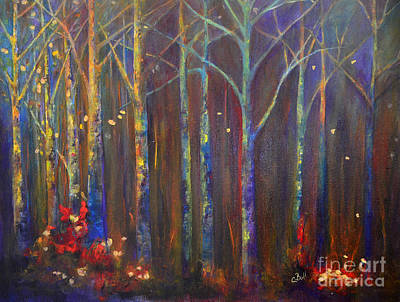 Painting - Woods In Autumn by Claire Bull