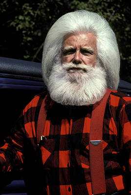Kringle Photograph - Woodsman With White Hair And Beard by Vintage Images