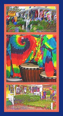 Woodstock Triptych Art Print by Steve Ohlsen