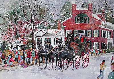 Woodstock Wassail Parade Art Print by Sherri Crabtree