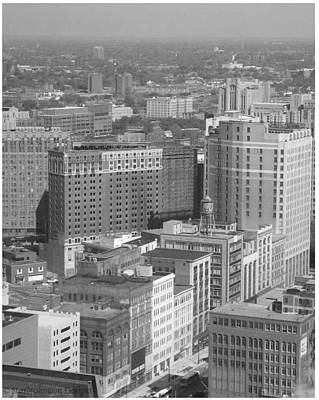 Photograph - Woodward Avenue Bw by Crystal Hubbard
