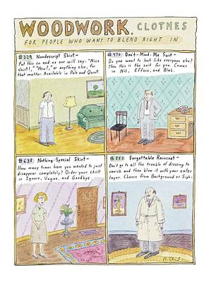 Woodwork Clothes Art Print by Roz Chast