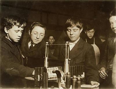 Woodworking Class, 1910 Art Print