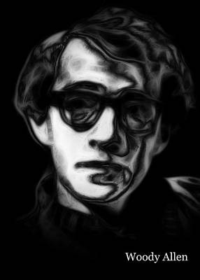 Woody Allen Digital Art - Woody Allen 2 by Steve K