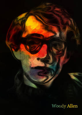 Woody Allen Digital Art - Woody Allen 3 by Steve K