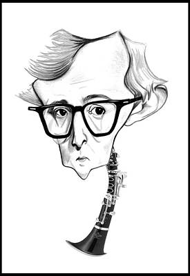 Woody Allen Digital Art - Woody Allen Illustration by Diego Abelenda