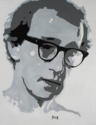 Painting - Woody Allen by Oscar Penalber