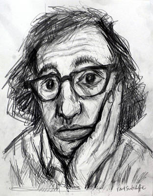 Manhattan Drawing - Woody Allen by Paul Sutcliffe