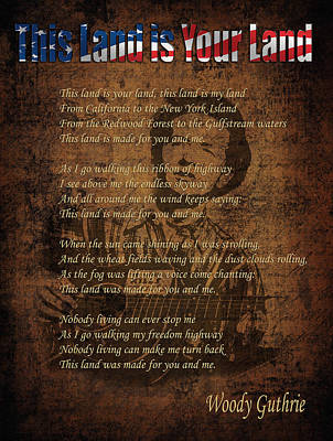 Woody Guthrie 2 Art Print by Andrew Fare