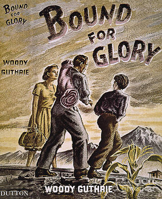 Woody Guthrie: Glory, 1943 Art Print by Granger