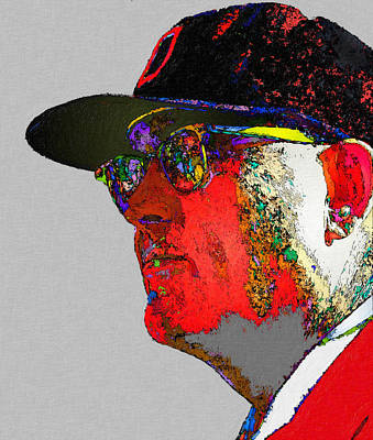 Ncaa Painting - Woody Hayes Blast Of Color by John Farr