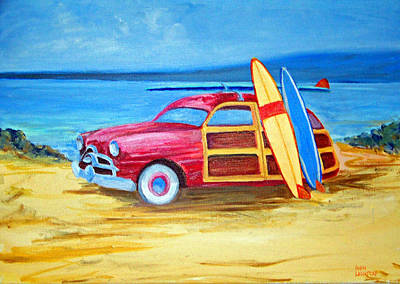 Painting - Woody On The Beach by Ronald Lightcap
