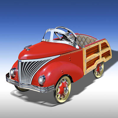 Woody Peddle Car Art Print by Mike McGlothlen