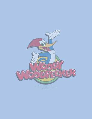 Woodpecker Digital Art - Woody Woodpecker - Retro Fade by Brand A