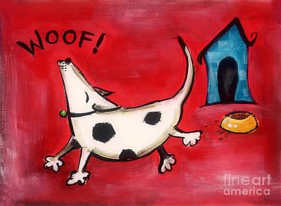 Woof Art Print by Diane Smith