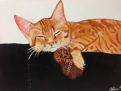 Chewbacca Painting - Wookie Cat by Alisa Freeman