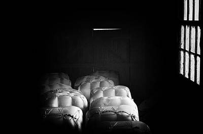 Photograph - Wool Bales In Fading Light by Grant Petras