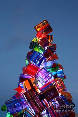Wool Christmas Tree At Sunset Art Print by James Brunker