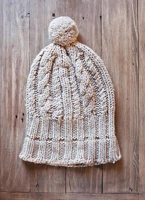 Pom Pom Photograph - Wool Hat by Tom Gowanlock