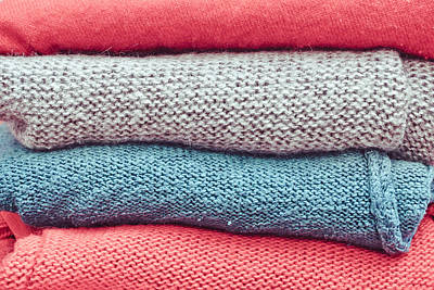 Clothes Clothing Photograph - Wool Jumpers by Tom Gowanlock