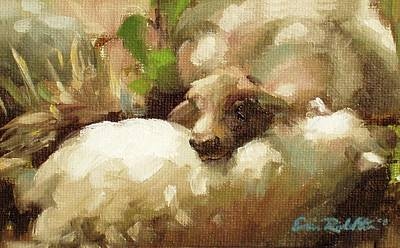 Painting - Wool Pillow by Erin Rickelton