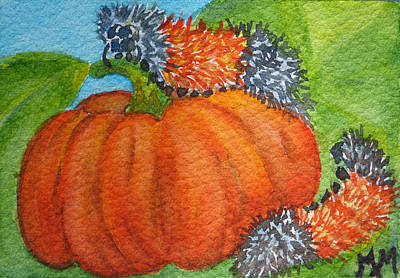 Painting - Woolly Bears by Monique Morin Matson
